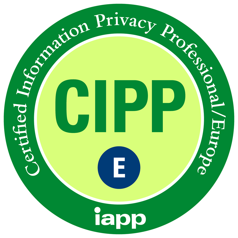 CIPP/E Certified Information Privacy Professional/Europe